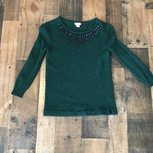 J Crew Green Sweater XXS